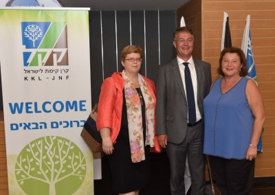 v.l.n.r.: Monika Iwersen (Gesandte der BRD, Botschaft Tel Aviv), Gunther Adler (Staatssekretär, BMUB), Sarah Singer (Präsidentin JNF-KKL Deutschland)