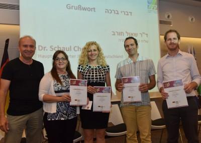 Dr. Schaul Chorev (KKL-JNF, Hauptdelegierter für Deutschland) und die Israelische Jury