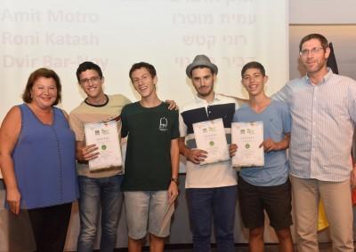 Der zweite Platz: Yehonatan E., Amit M., Roni K., Dvir B. und Shmuel Kresh